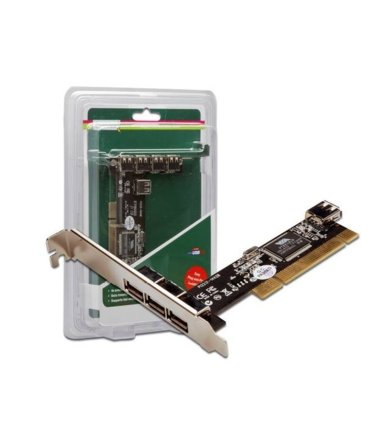 Digitus Kontroler PCI USB2.0 3+1, VIA 6212, LP