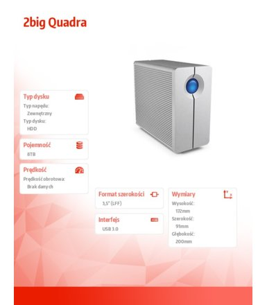 LaCie 2big Quadra USB3.0 8 TB 3,5'' LAC9000317