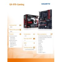 Gigabyte GA-970-Gaming sAM3+ AMD970 4DDR3 USB3 ATX