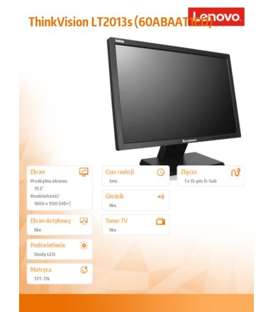 Lenovo ThinkVision LT2013s (60ABAAT1EU)