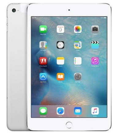 Apple iPad mini4 128GB W Silver              MK9P2FD/A