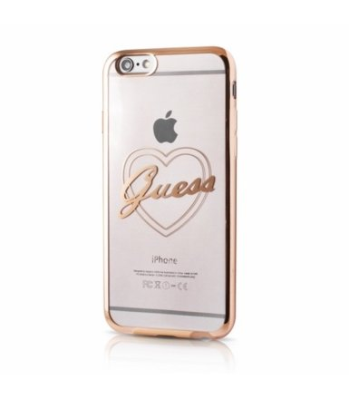 GUESS Hardcase GUHCP6TRHG iPhone 6/6S gold heart signature