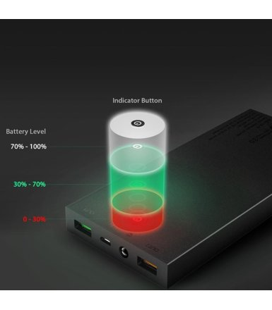 AUKEY PB-T9 ultraszybki Power Bank 2xUSB Quick Charge 3.0 16000mAh 5.4A, czarny