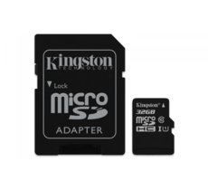 Kingston microSD 32GB Class 10 Gen2 1-adapter