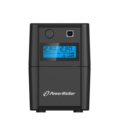 PowerWalker UPS LINE-INTERACTIVE 650VA 2X 230V PL OUT, RJ11     IN/OUT, USB, LCD