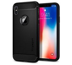 SPIGEN SGP  Rugged Armor Black etui iPhone X