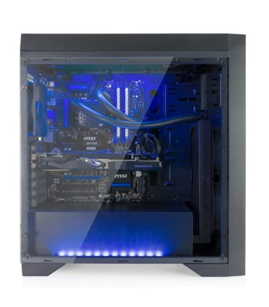 SilentiumPC Aquarius X70T Tempered Glass Pure Black