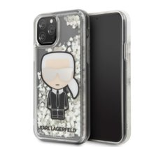 Karl Lagerfeld Etui hardcase iPhone 11 Pro Max KLHCN65GLGIRKL Iconic Glitter Glow in the dark