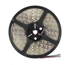 Whitenergy Taśma LED|5m|60szt/m|SMD5050|14.4W/m|12V|IP65|10mm|RGB|bez konektora