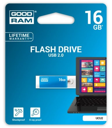 GOODRAM CUBE 16GB USB2.0  BLUE
