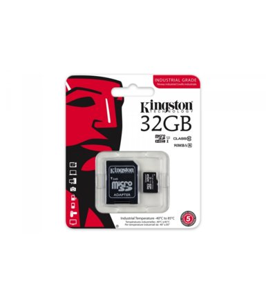 Kingston microSD 32GB CL10 UHS-I 90/45MB/s Industrial
