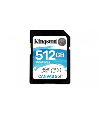Kingston SD 512GB Canvas Go 90/45MB/s CL10 U3 V30