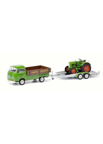 Volkswagen T2a Westfalia Pick-up with Trailer and Fendt Dieselross Fendt Service