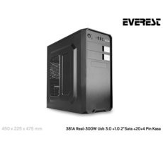 EVEREST 381A/B Obudowa Midi Tower USB3.0+ 2x USB2.0