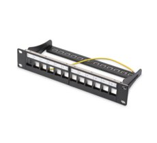 Digitus Patch panel 10, 12 port Keystone, pusty, czarny