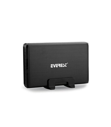 "EVEREST Obudowa HD3-354 3.5"" Usb 3.0 SATA Aluminium LED Black"