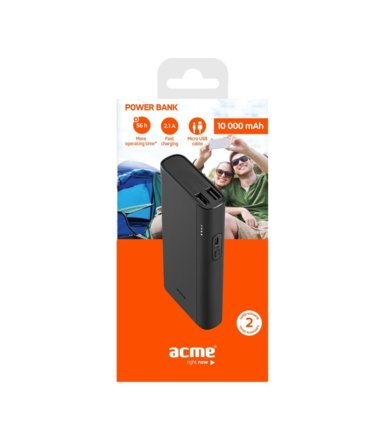 ACME Europe Powerbank PB101 10.000 mAh, czarny