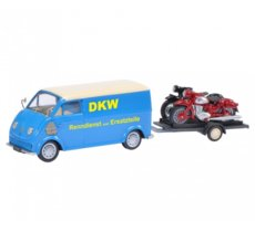 "DKW Schnelllaster ""DKW"" with bike trailer and DKW RT 125, DKW RT 350"