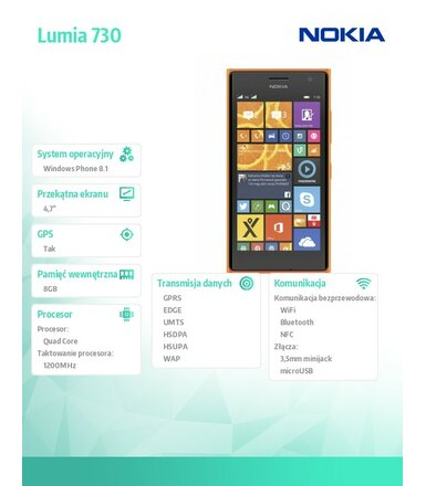 Nokia Lumia 730 DS ORANGE