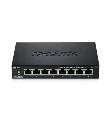 D-Link Switch 8-port 10/100 Metal Housing
