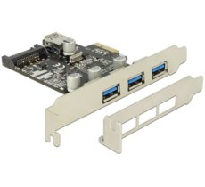Delock Karta PCI Express -> USB 3.0 3-Port + 1x Internal USB