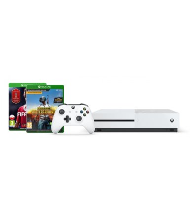 Microsoft Konsola Xbox One S 1TB + Playerunknowns Battlegrounds + FIFA 18 + 6M LIVE
