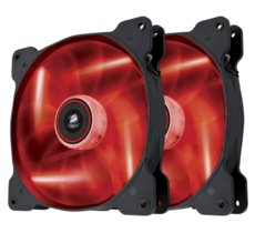 Corsair Fan SP140 LED Red High Static Pressure Twin Pack