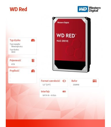 Western Digital Red 6TB 3,5'' 256MB SATAIII/7200rpm