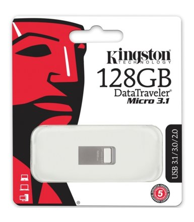 Kingston Data Traveler Micro Memory Stick 128GB USB 3.1
