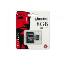 Kingston microSDHC  8GB class 4 + adapter