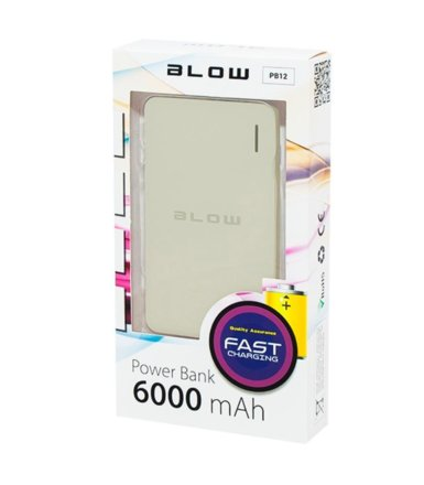 BLOW Power Bank 6000mAh 1xUSB PB12 GREY