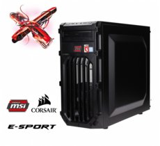 OPTIMUS E-Sport MB250T-CR6 i5-7400/8GB/1TB/GTX1060 6GB RED LED