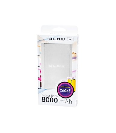 BLOW Power Bank 8000mAh 1xUSB PB17 srebrny