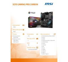 MSI X370 GAMING PRO CARBON AM4 4DDR4 10USB3.1/2M.2 ATX