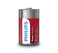Philips Baterie Power Alkaline D 2szt. blister (LR20)