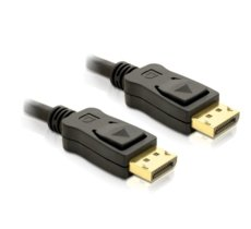Delock Kabel Displayport M/M 1M Gold