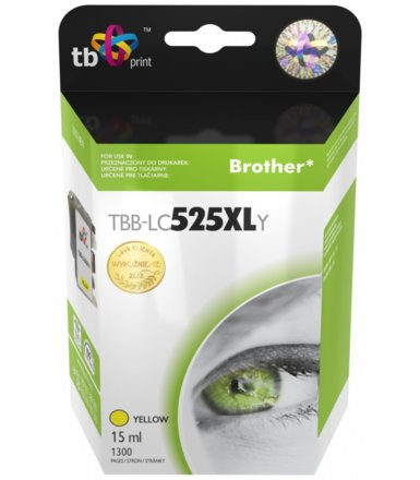 TB Print Tusz do Brother LC529/539 YELLOW  TBB-LC525XLY