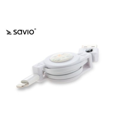 Elmak SAVIO CL-71 Kabel rozwijany do iPhone 5/5s/6/6+, 80 cm